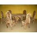 Teak Root Dining Set