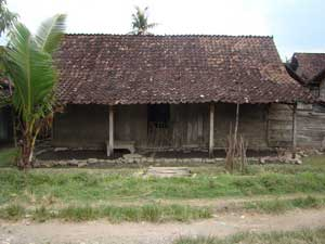 Common house in Java island, made from teak and has minimum 50 years of age